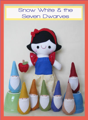 Snow White Play set Pattern - Two Brown Birds