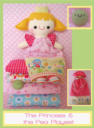 Red Riding Hood /& Wolfie PATTERN cute softie toy PATTERN Two Brown Birds